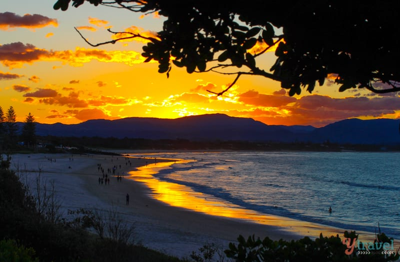 Sunset at Byron Bay, NSW, Australia