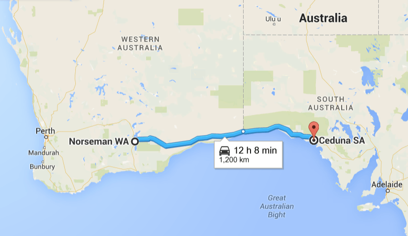 Nullabor road trip map
