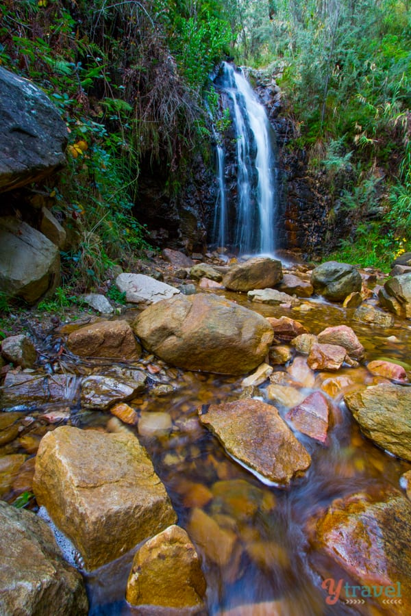 Waterfall on the Mt Lofty Summit hike in the Adelaide Hills, South Australia