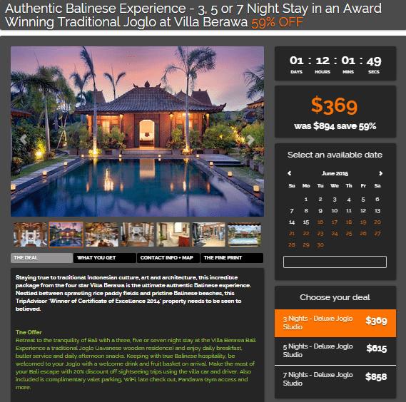 Bali villa tripadeal