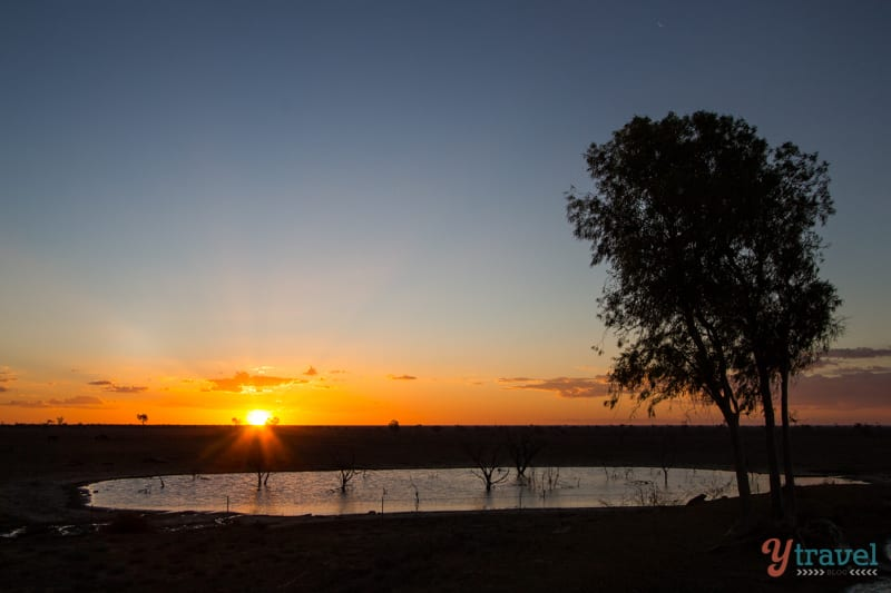 Sunset at Camden Park Station, Longreach, Outback Queensland, Australia