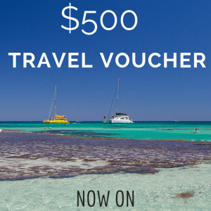 win a $500Travel Voucher
