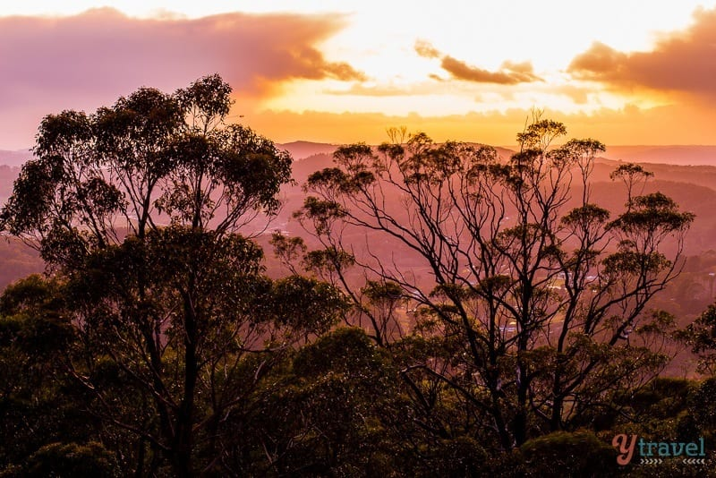 Sunrise from Mt Lofty House in the Adelaide Hills, South Australia