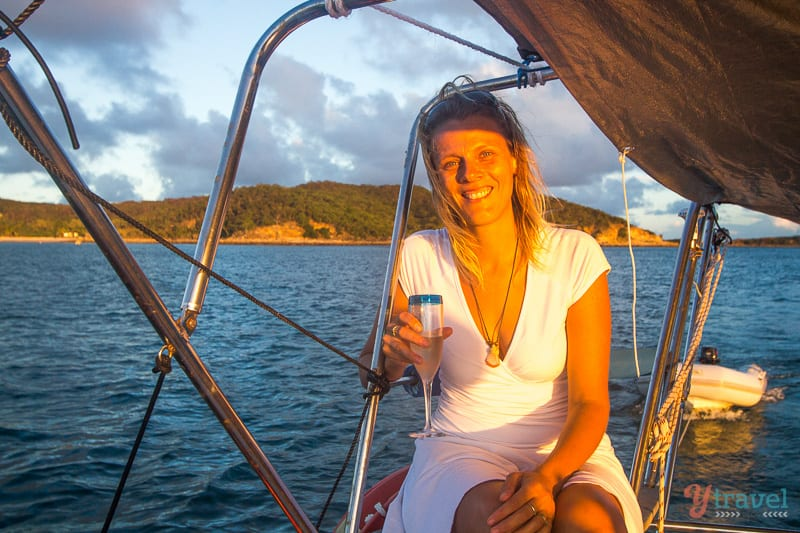 Go sailing at sunset around Great Keppel Island, Queensland, Australia