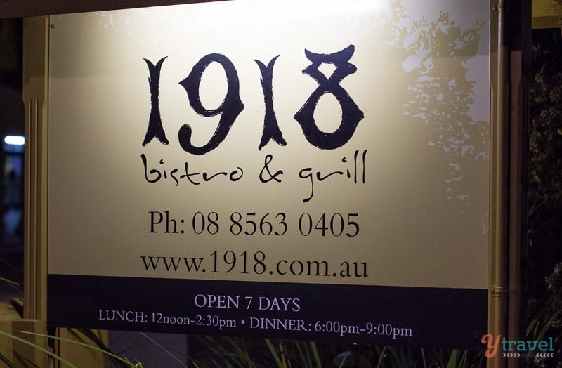 Dinner in the Barossa Valley, South Australia