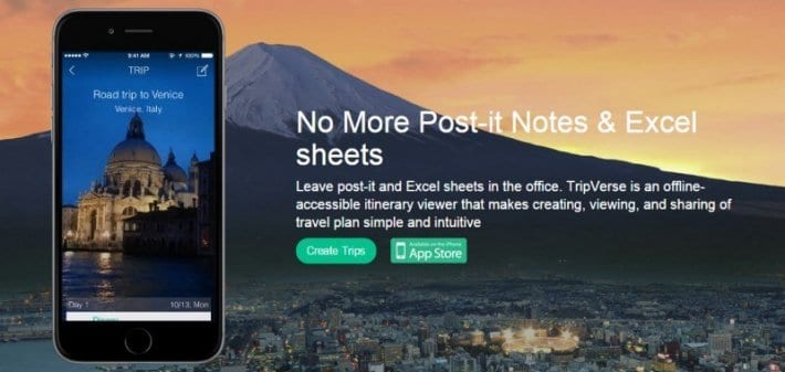 Tripverse planning app