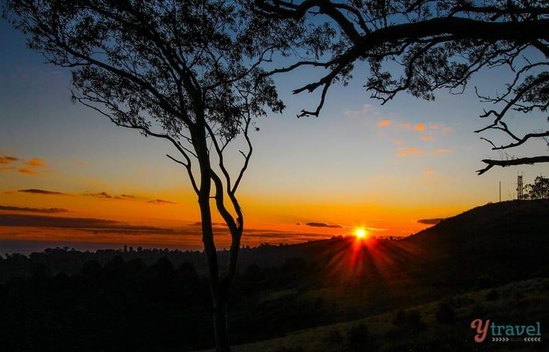 Sunset in The Bunya Mountains, Queensland, Australia