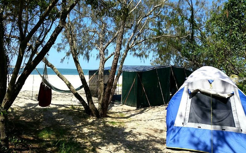 Camping at Inskip Point, Rainbow Beach, Queensland, Australia