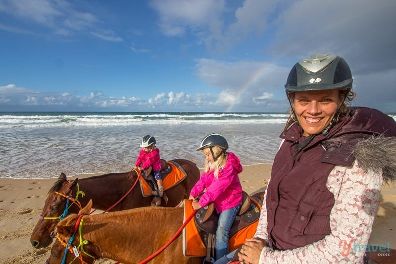 Rainbow Beach horse riding, in Queensland, Australia