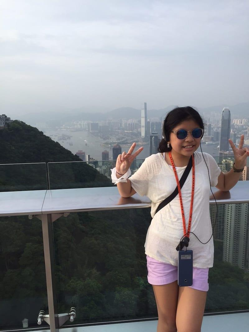 At Victoria's Peak Hong Kong