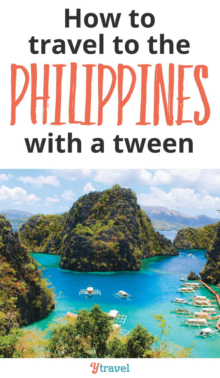 The Philippines is a great family destination. Read how you can travel to the Philippines with a tween.