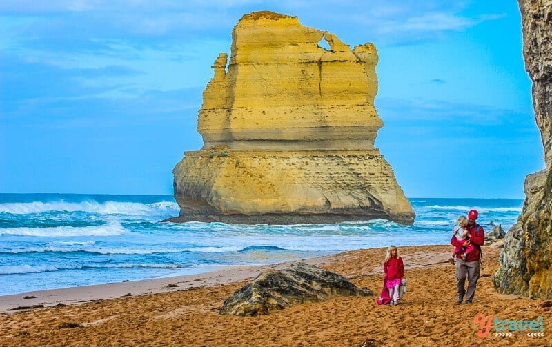 The 12 Apostles on the Great Ocean Road in Victoria, Australia