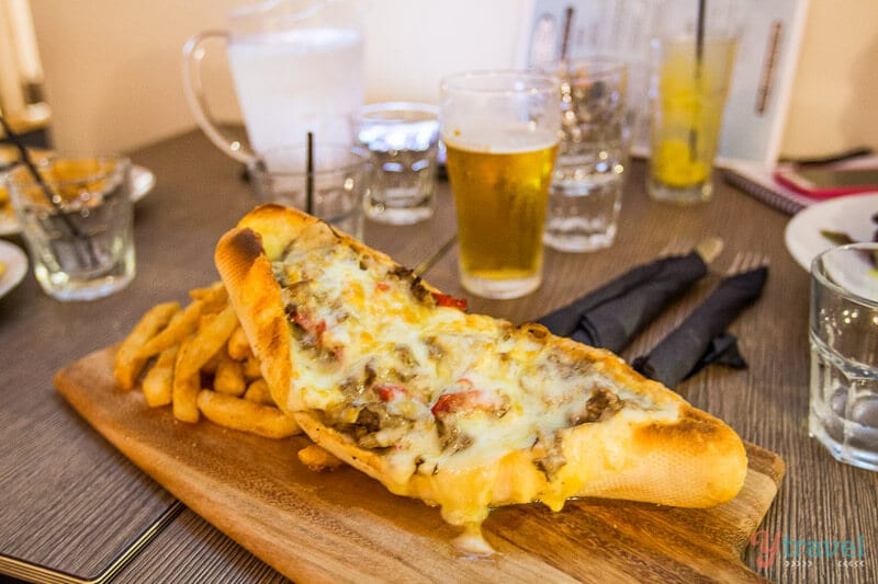 Philly Cheese Staek at The Beach House, Port Macquarie, NSW, Australia
