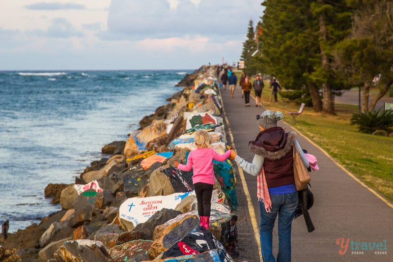 The Breakwall, Port Macquarie, NSW, Australia