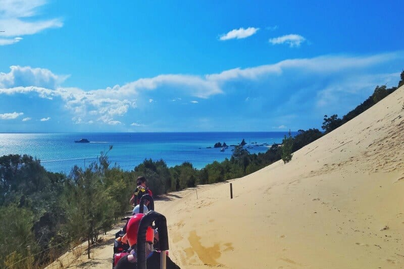 Quad bike adventure on Moreton Island, Queensland, Australia
