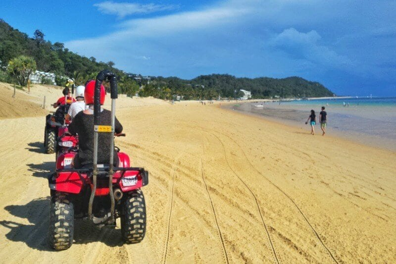 Quad bike tour on Moreton Island, Queensland, Australia