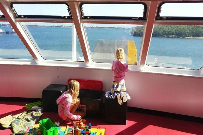 On the ferry to Moreton Island, Queensland
