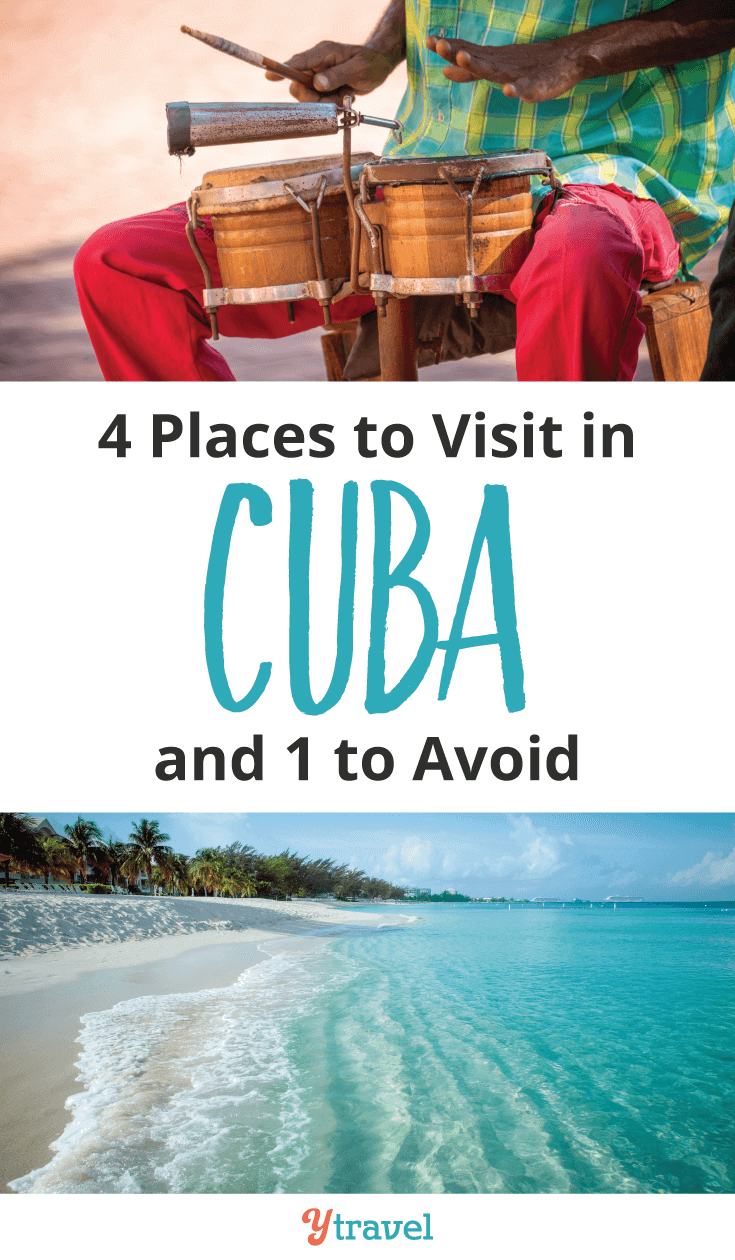 4 places to visit in cuba and one to avoid. Top travel tips for visiting Cuba.