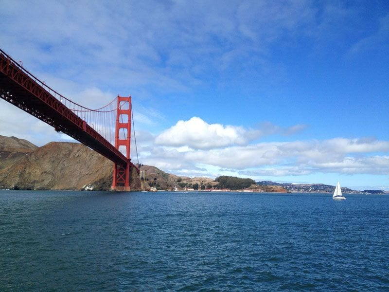 Golden Gate Bridge from the Water, San Francisco, California