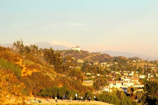 Hiking in Griffith Park, Los Angeles, California