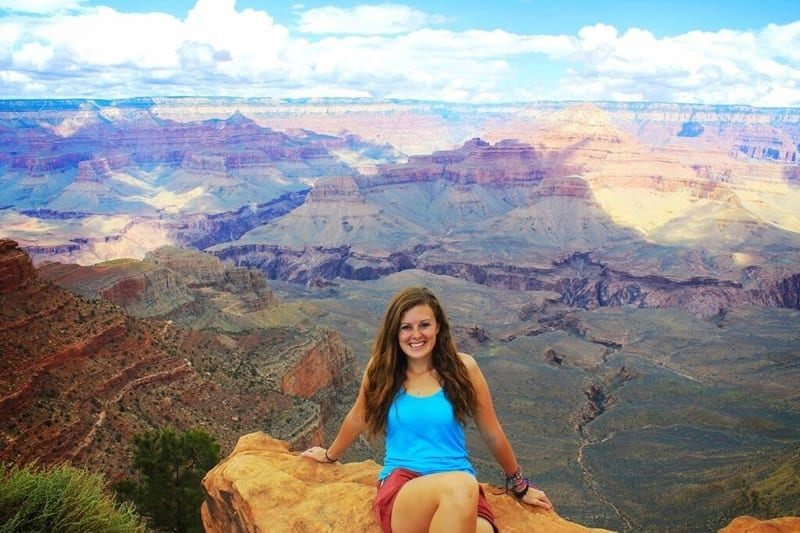 Lauren at the Grand Canyon, USA