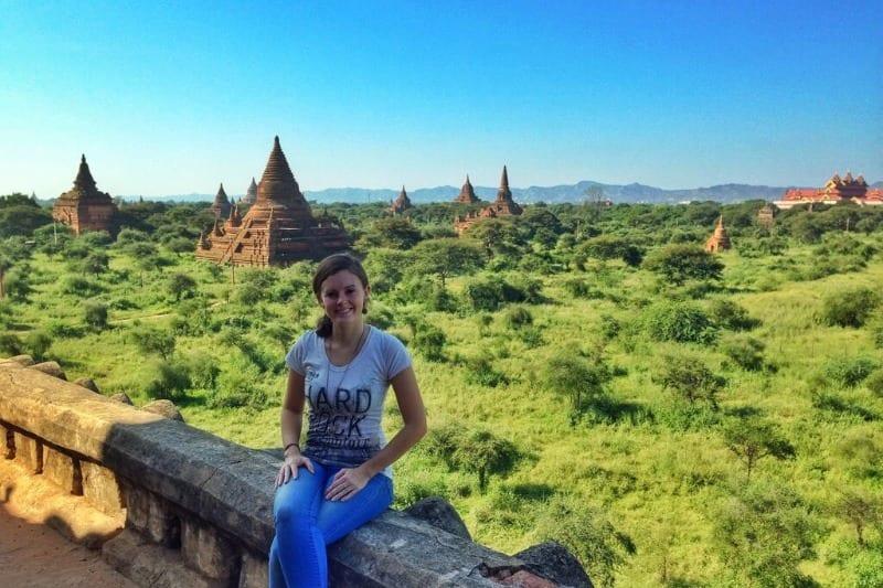 Lauren in Bagan, Myanmar