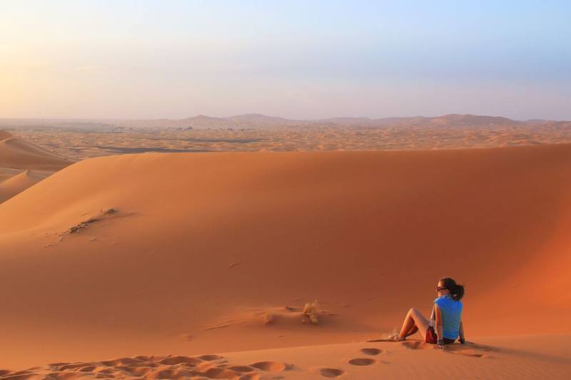 Lauren in the Sahara Desert, Morocco