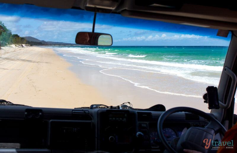4x4 driving on Moreton Island, Queensland, Australia