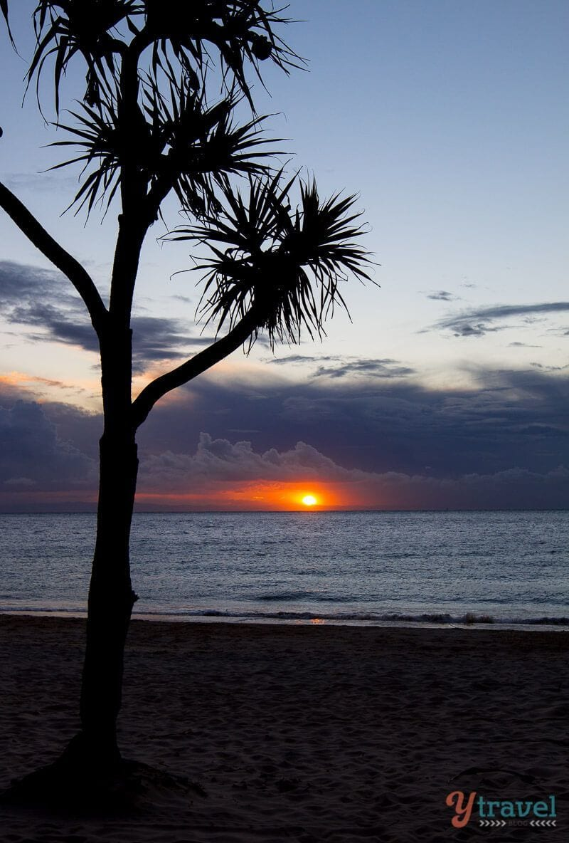 Sunset on Moreton Island, Queensland, Australia