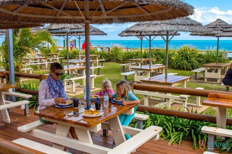 Lunch on Moreton Island, Queensland, Australia