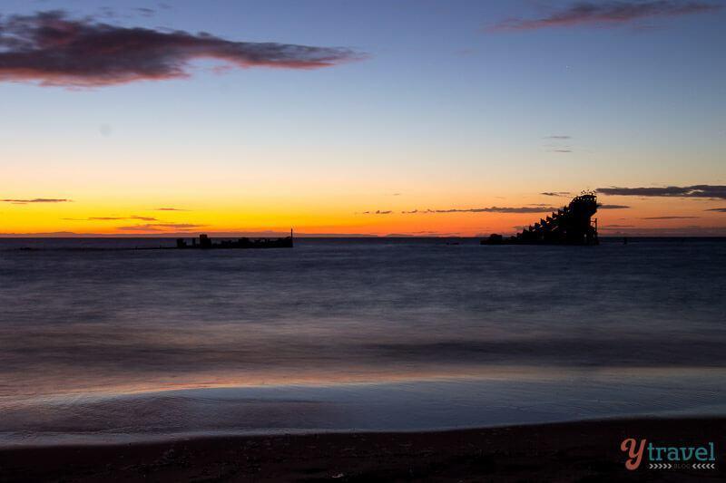 Sunset on Moreton Island, Queensland, Australia