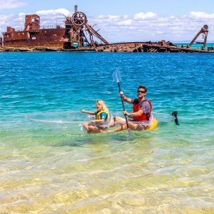 Kayaking on Moreton Island, Queensland, Australia