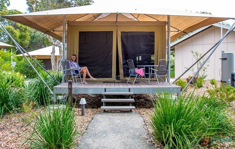 Castaways campground, Moreton Island, Queensland, Australia