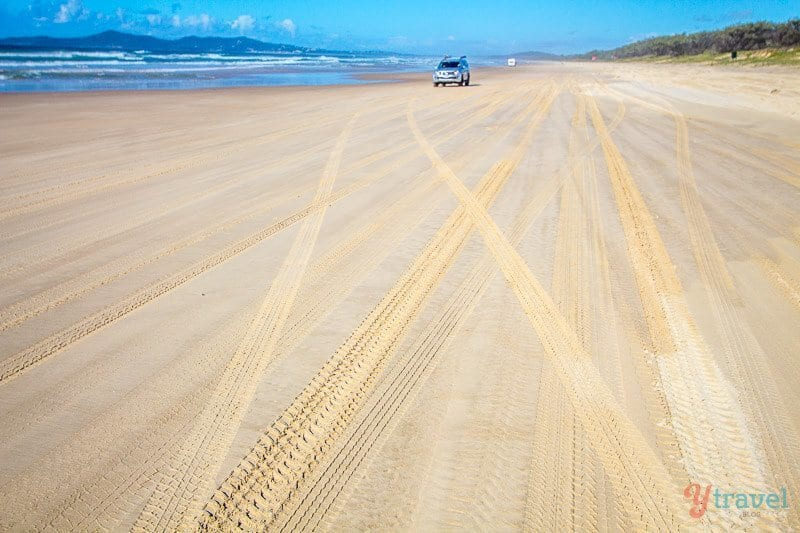 Le Great Beach Drive dans le Queensland, Australie