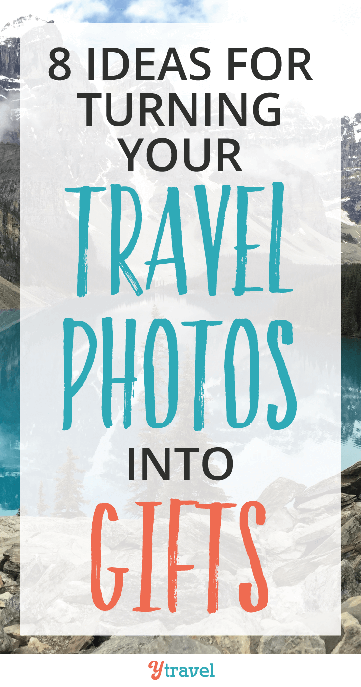 Do you have loads of photos from past vacations but no idea what to do with them? Here are 8 Ideas for Turning Your Travel Photos Into Gifts!