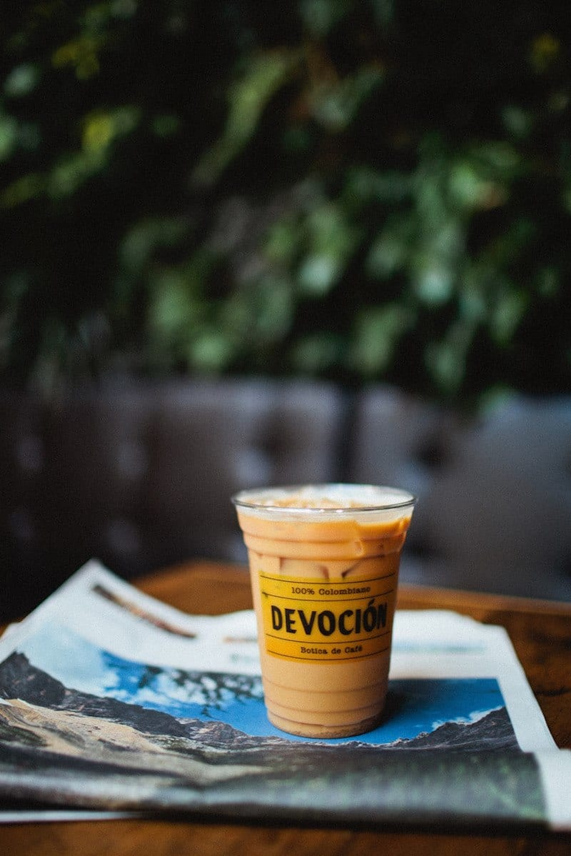 Devocion coffee shop - one of the best coffee shops in NYC that the locals love!