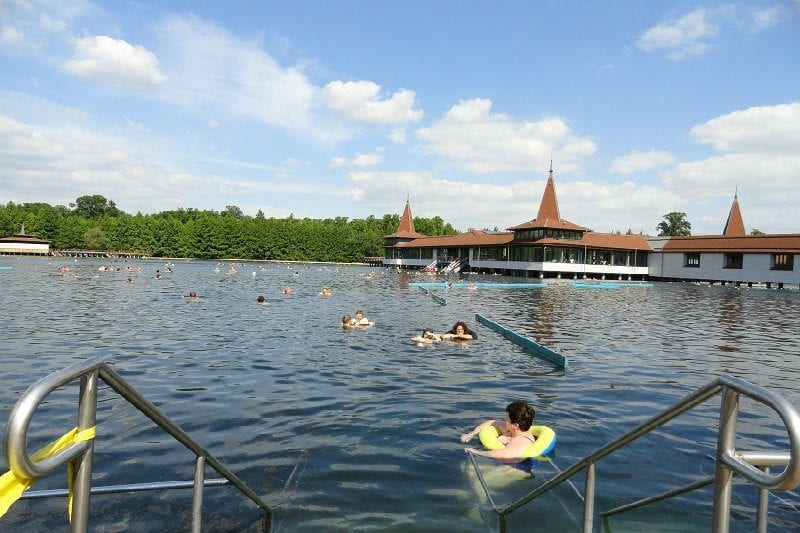 Lake Heviz is a thermal lake, which is said to have healing powers. It is deep so you will see adults of all ages floating on colourful blow-up rings. It is where Amanda's grandmother used to visit as a young girl.