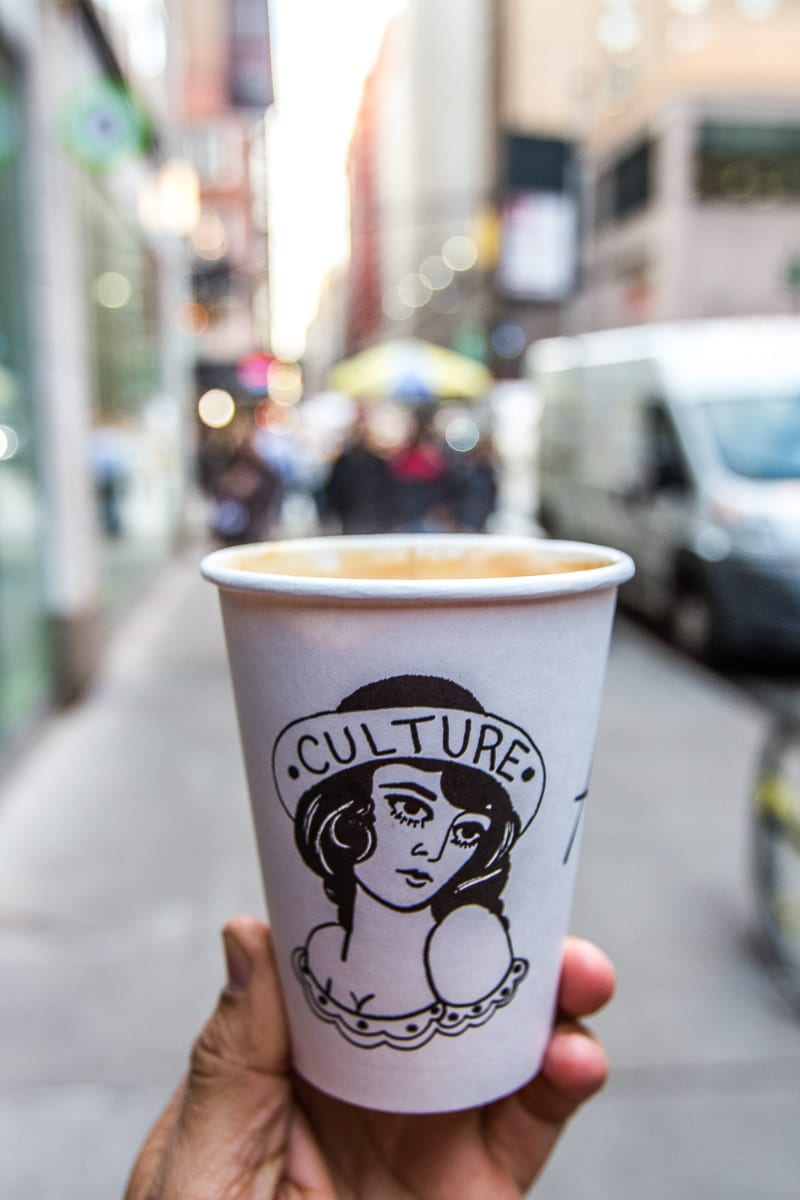 Culture Espresso - one of the best coffee shops in NYC
