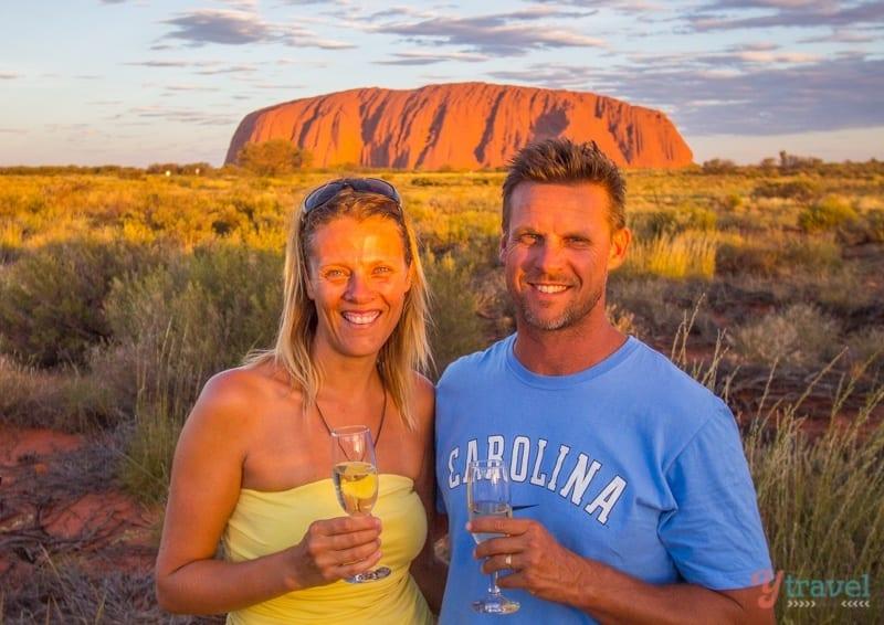 Sunset drinks at Uluru, Northern Territory, Australia