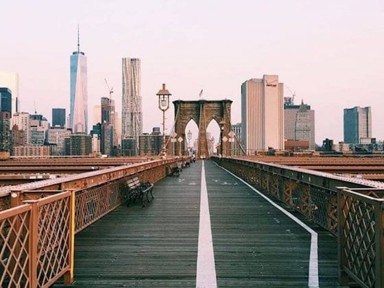 One of the best FREE things to do in NYC is walk the Brooklyn Bridge. See more tips on our blog!
