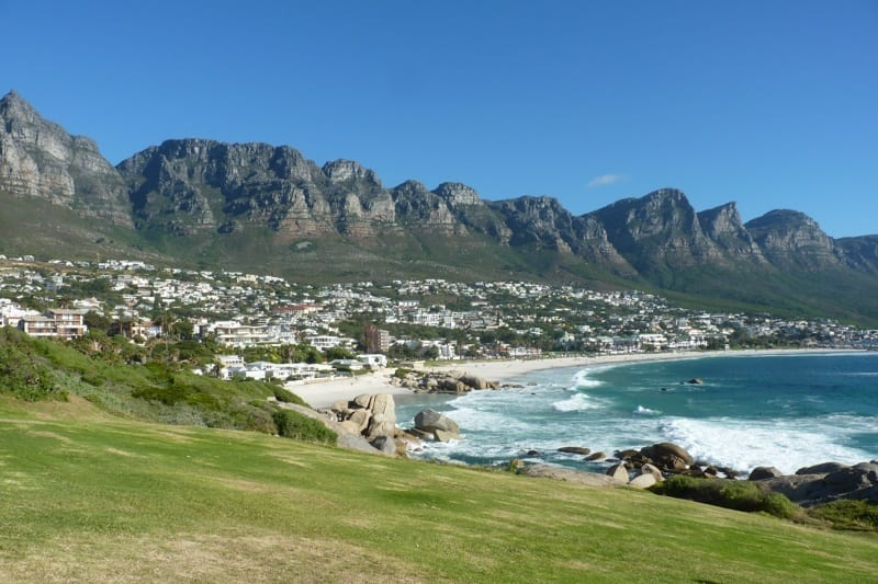 Camp's Bay in Cape Town is a great place to enjoy the seaside and surrounding mountains