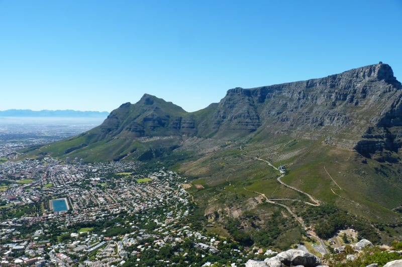 Table Mountain as seen from Lion's Head