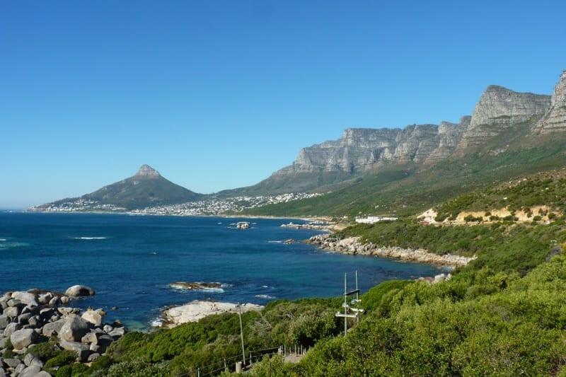 Lion's Head, Camp's Bay and the Twelve Apostles as seen from Chapman's Peak