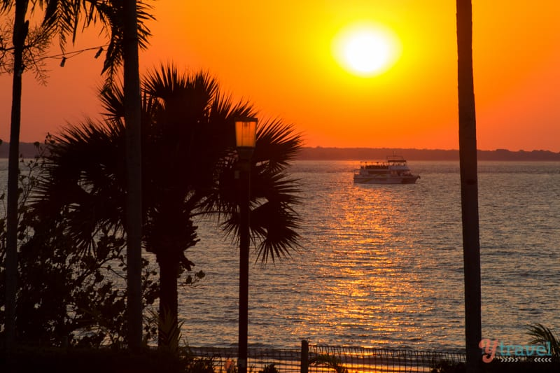 Sunset view from SkyCity Casino in Darwin - Northern Territory of Australia