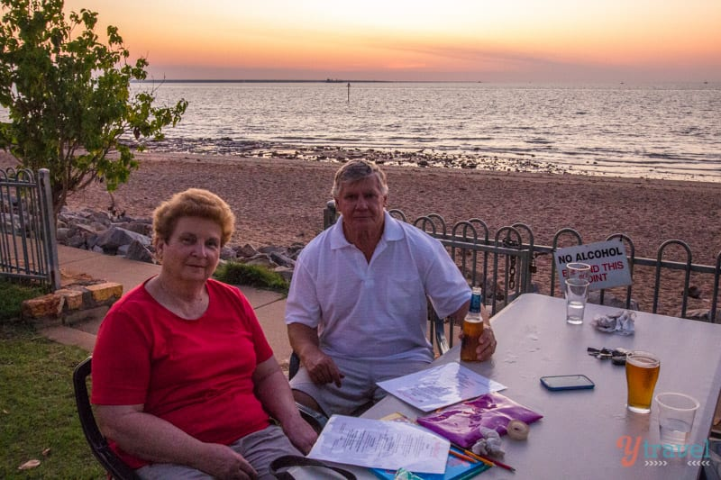 Sunset drinks at the Ski Club in Darwin, Northern Territory of Australia