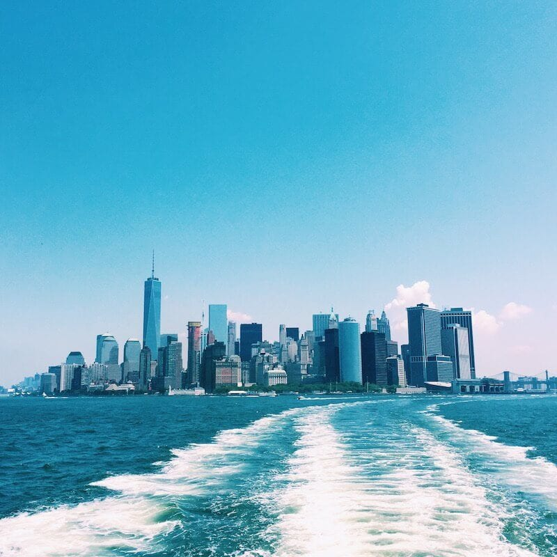 See Manhattan from the Staten Island Ferry - One of the best Free things to do in NYC. More on the blog!