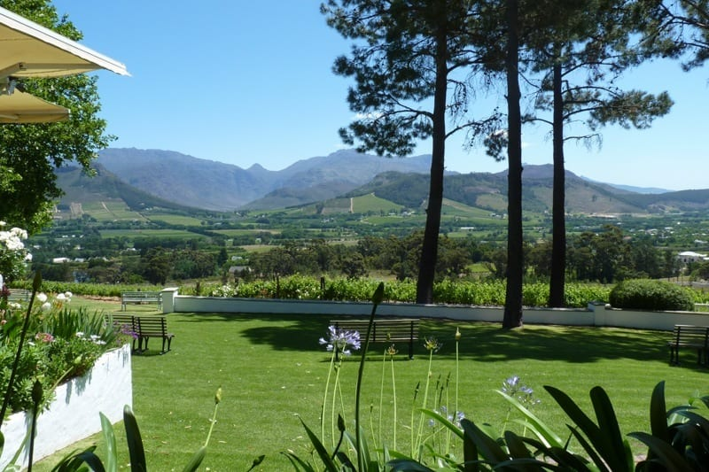 The view from La Petit Ferme in Franschhoek – a great spot for lunch