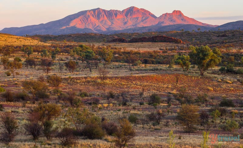 Sunrise at Mt Sonder in the Northern Territory of Australia