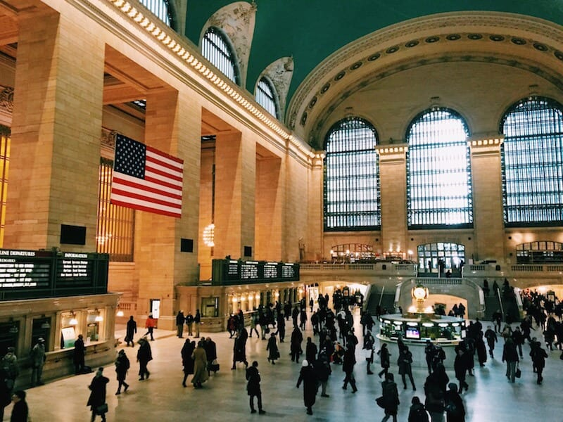 People watch in Grand Central Station - One of the best Free things to do in NYC