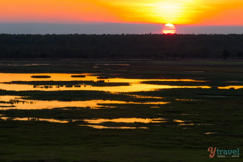 Sunset in Kakadu National Park in the Northern Territory of Australia